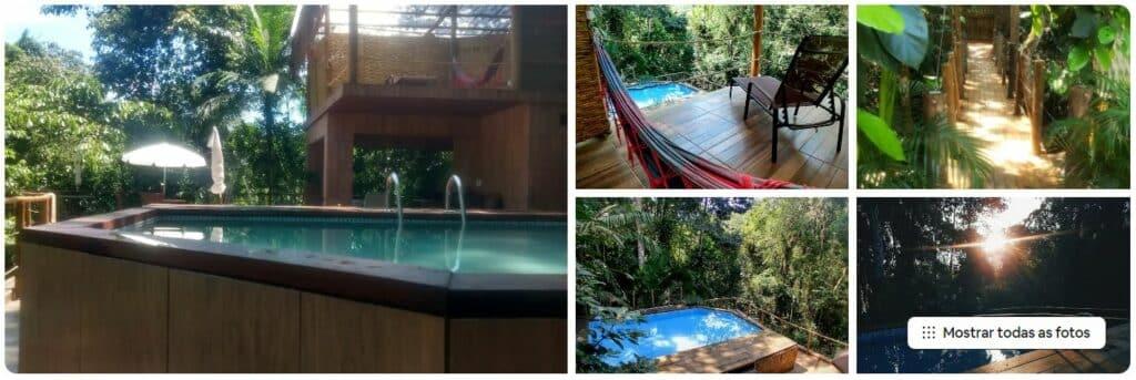 Suíte com piscina em condomínio fechado perto da praia em Ubatuba
