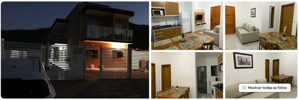 Apartamento bem mobiliado em Ubatuba, disponível no Airbnb