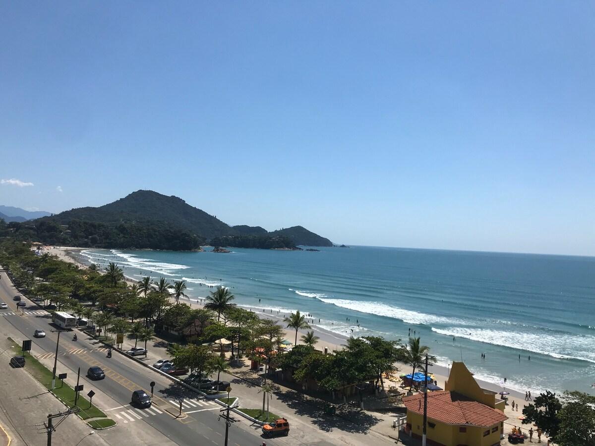 Vista do terraço do Apto. Novo, um dos Airbnb na Praia Grande em Ubatuba