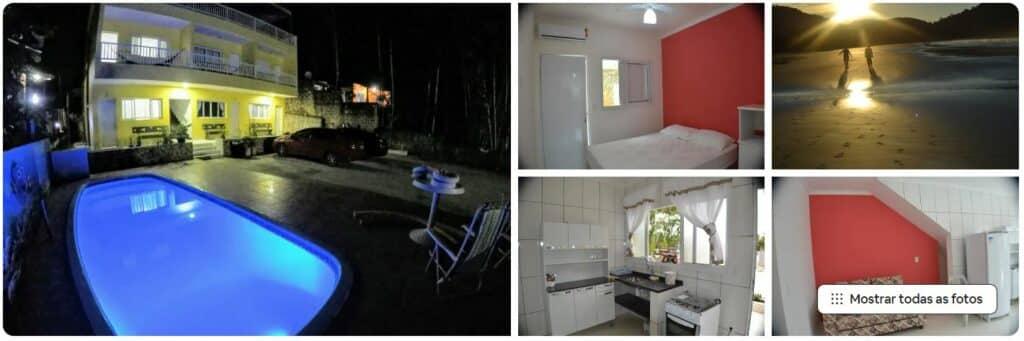 Apartamento red em condomínio perto da praia em Ubatuba