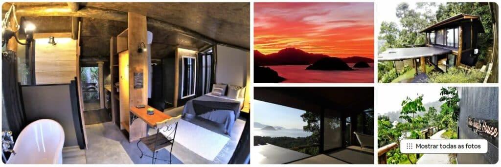 Espaço da casa Bamboo House, disponível no Airbnb