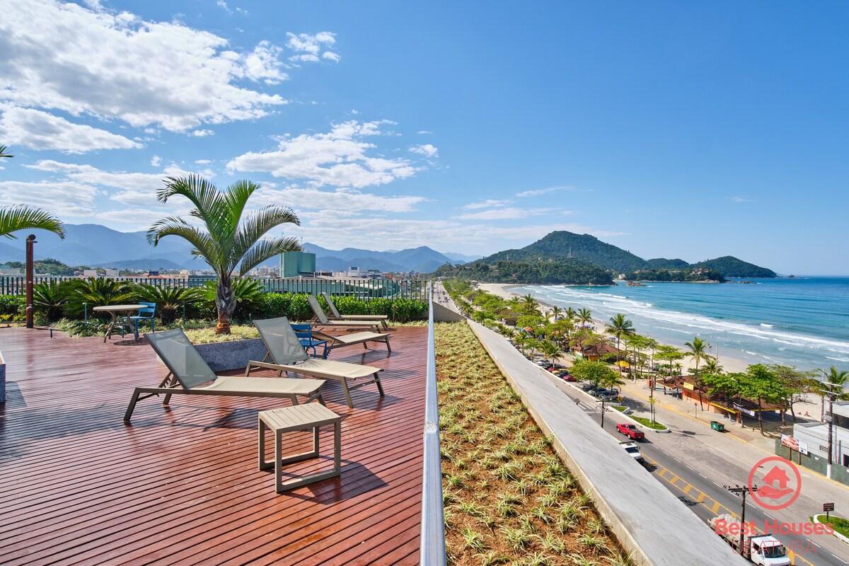 Apartamento para alugar em meio às pousadas na Praia Grande de Ubatuba