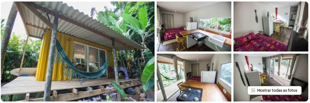 Airbnb de casa em estilo container, localizada em Prumirim