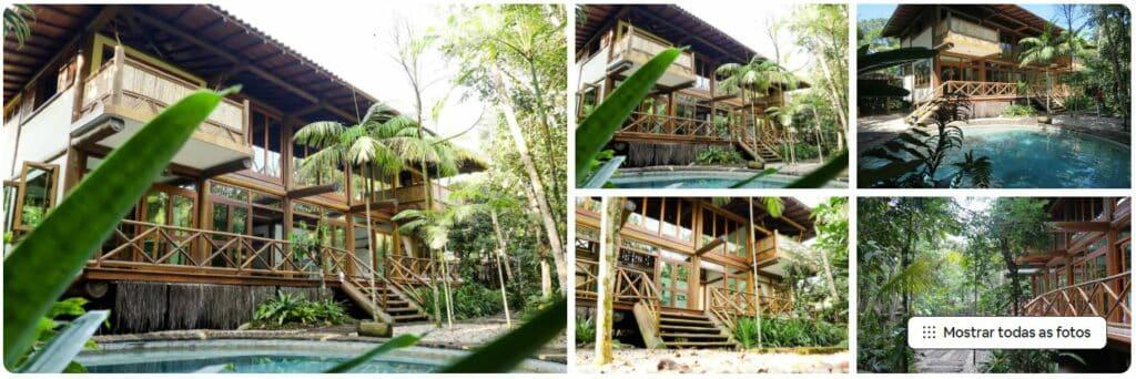 A Casa exuberante com piscina