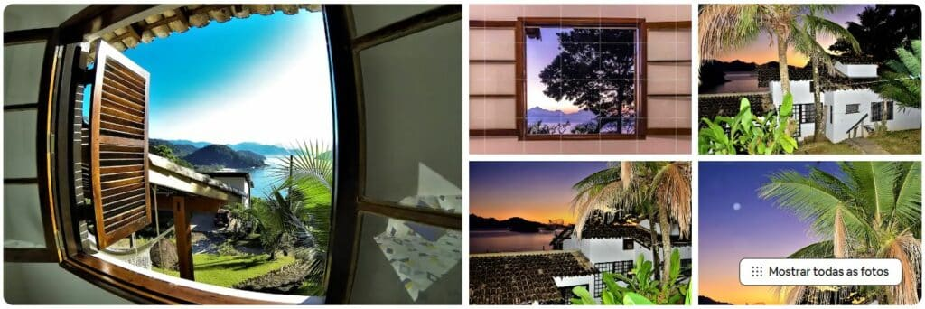 Vista do mar e fotos da Casa Felix Vistamar