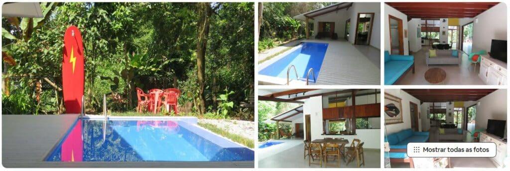 Piscina e ambientes da Casa nova em Itamambuca