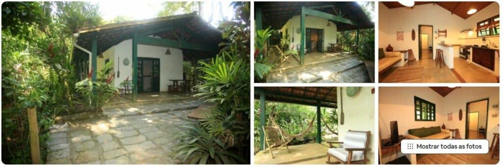 Fotos dos espaços da Casa Verde, um dos Airbnb na Praia do Félix