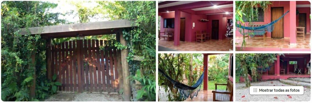 Portão e fotos do Airbnb Cahlé em Itamambuca
