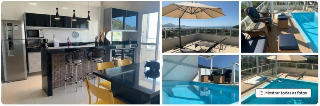 Apartamento com piscina na cobertura na Praia das Toninhas