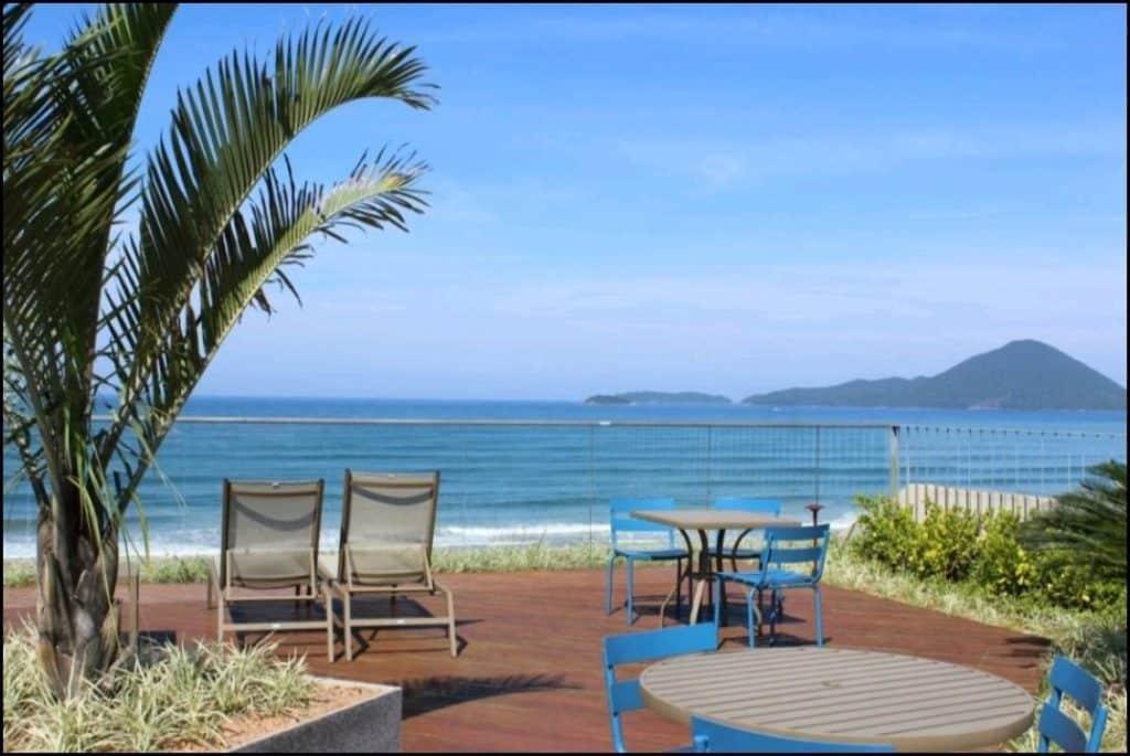 Piscina com vista no Maravilhoso Apartamento DNA Resort Ubatuba