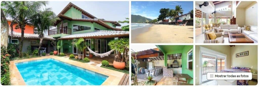 Fotos da piscina e espaços da Elegante casa a 1 quadra da praia