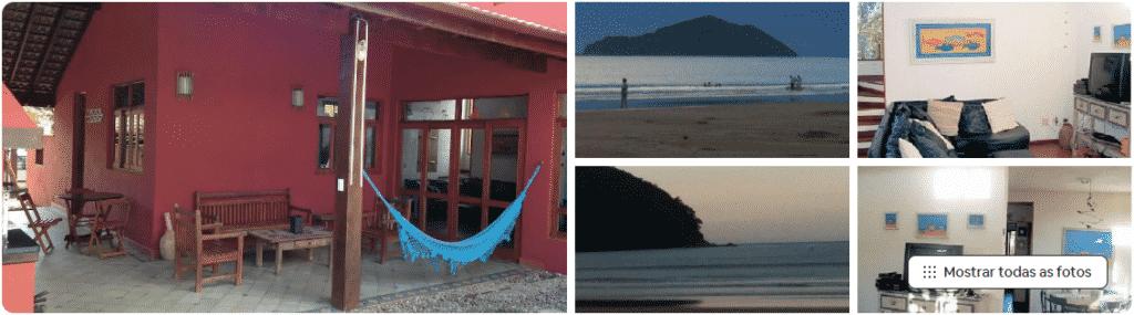 linda casa airbnb na praia da baleia