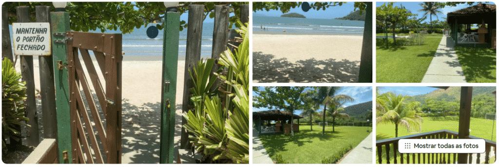 Casa em condomínio pé na areia na praia de Maranduba em Ubatuba