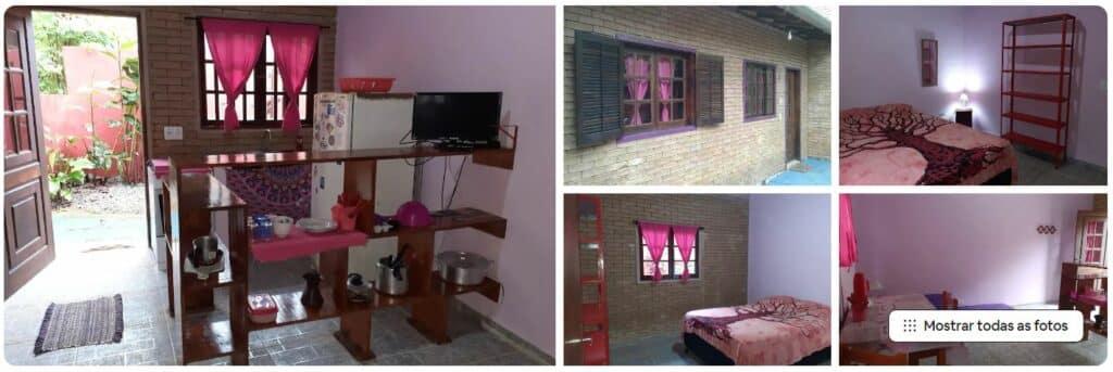 Chalé ideal para casais que visitam a região de Prumirim em Ubatuba