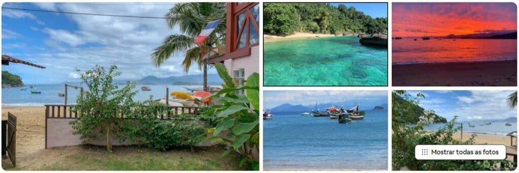 Fotos da entrada e da praia na Lovely house by the sea