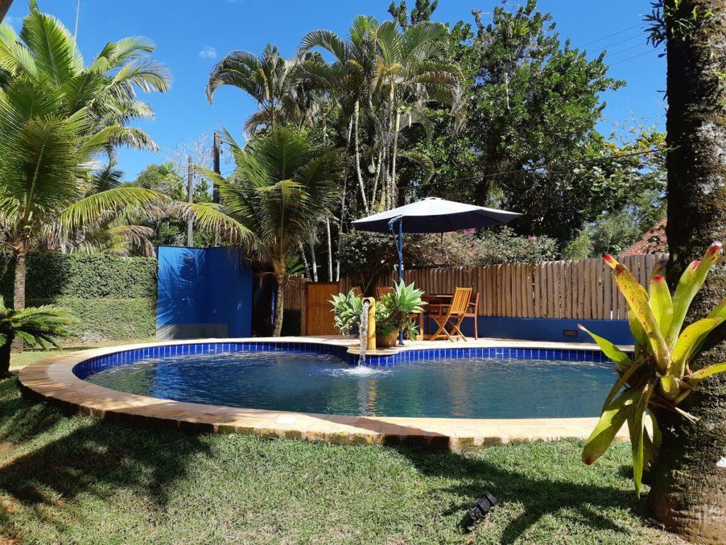 Piscina na casa Maloquinha Itamambuca