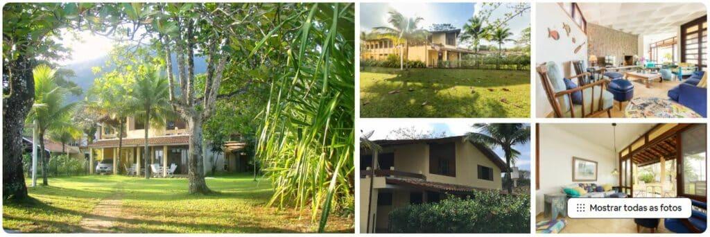Fotos do quintal e dos espaços da Maravilhosa casa pé na areia na Praia do Lázaro