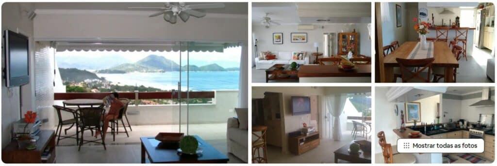 Airbnb Um pedaço do paraíso, uma cobertura climatizada na Praia das Toninhas