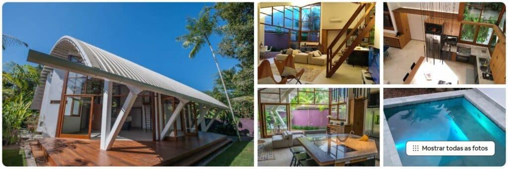 Chamoso Airbnb Piscina, ar cond. em tudo, Itamambuca