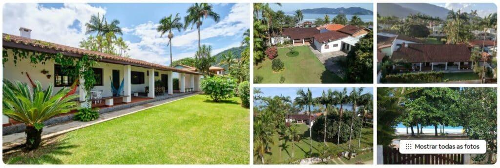 Fotos externas da Ampla casa frente ao mar na Praia da Lagoinha
