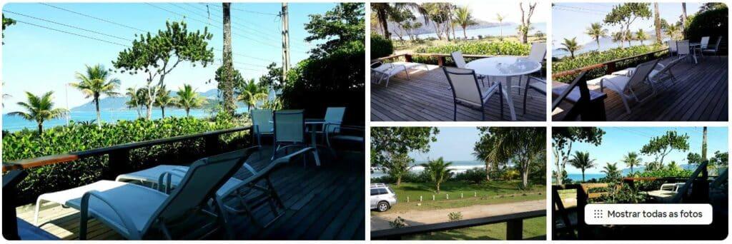 Casa pé na areia de Airbnb na Praia da Lagoinha