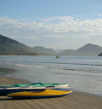 A praia de Maranduba, em Ubatuba
