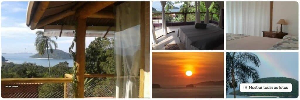 Casa com suíte de vidro na praia de Prumirim em Ubatuba