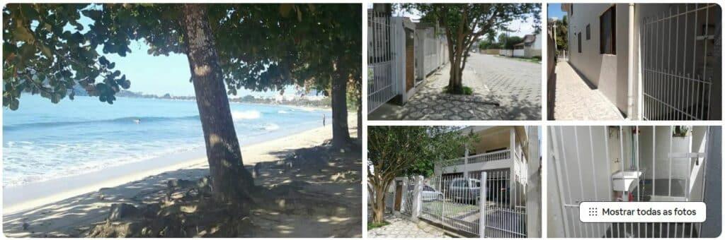 Praia e área externa do Airbnb casa em Ubatuba