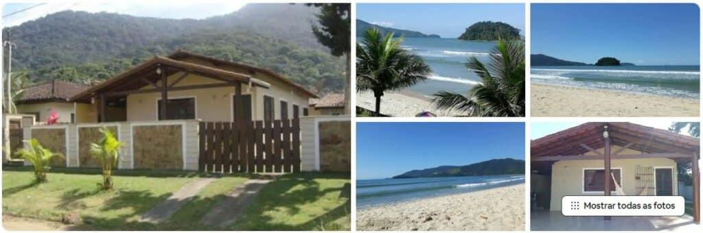 Casa espaçosa 4 dorm. perto das praias do sul de Ubatuba