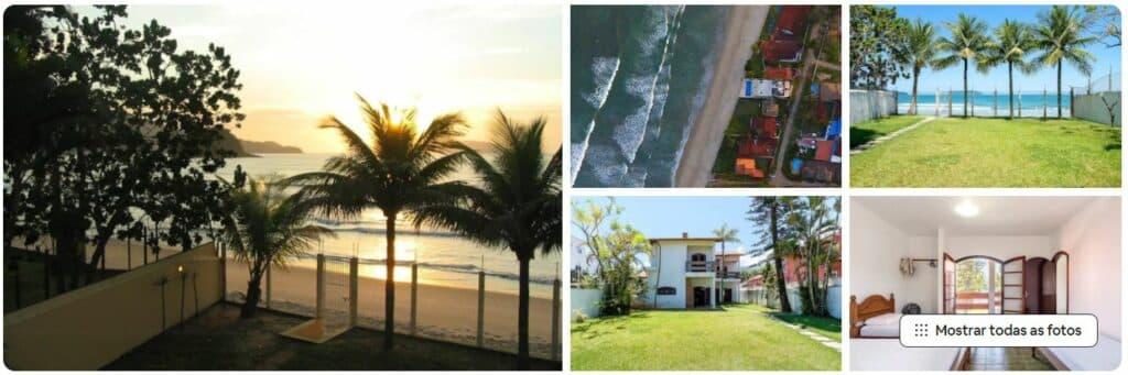 Airbnb Casa Pé na Areia em Ubatuba, na Praia do Sapê