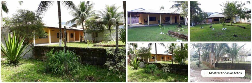 Fotos do quintal gramado e arborizado da Casa para quem gosta de natureza
