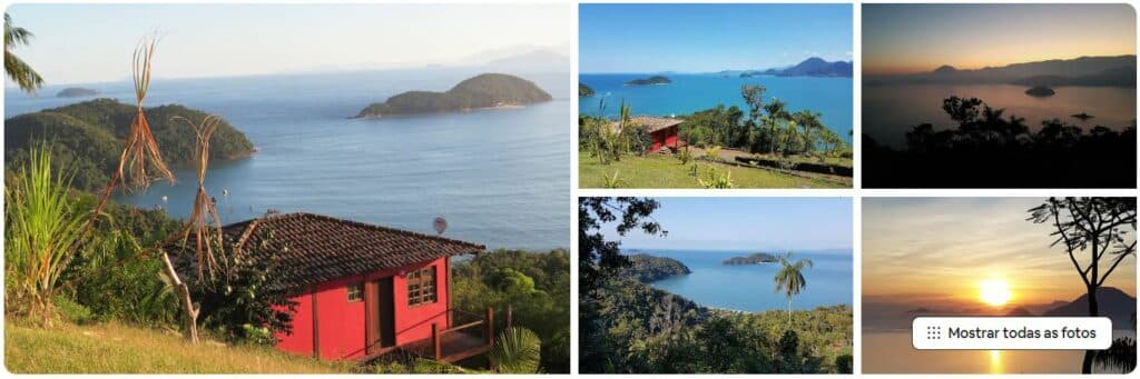 A Casinha vermelha, um dos Airbnb na Praia da Almada