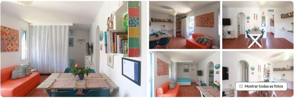 Espaços bem decorados no Airbnb em Itaguá chamado Lar Doce Lar