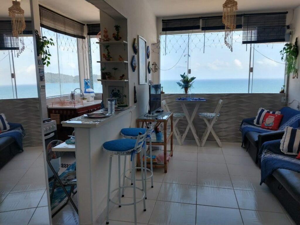 airbnb quitinete com vista para o mar