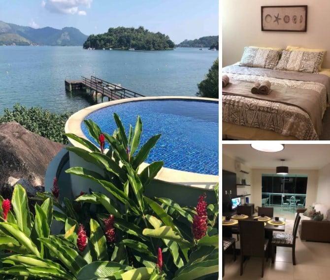 airbnb Apartamento Pé na Areia com Vista Cinematográfica em Angra dos Reis