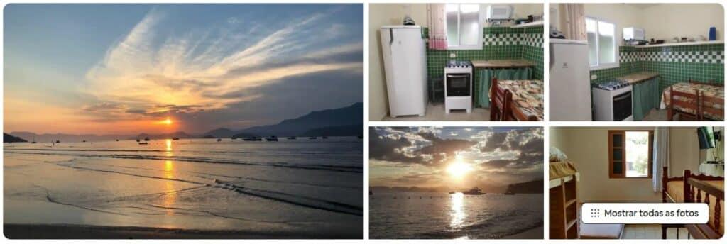 Fotos de apartamento simples, mas confortável, disponível pelo Airbnb na Praia de Tabatinga