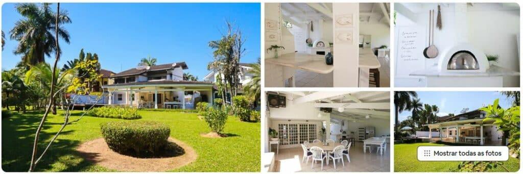 Ambientes externos e área com forno de pizza na Casa dentro do Condomínio Costa Verde Tabatinga.