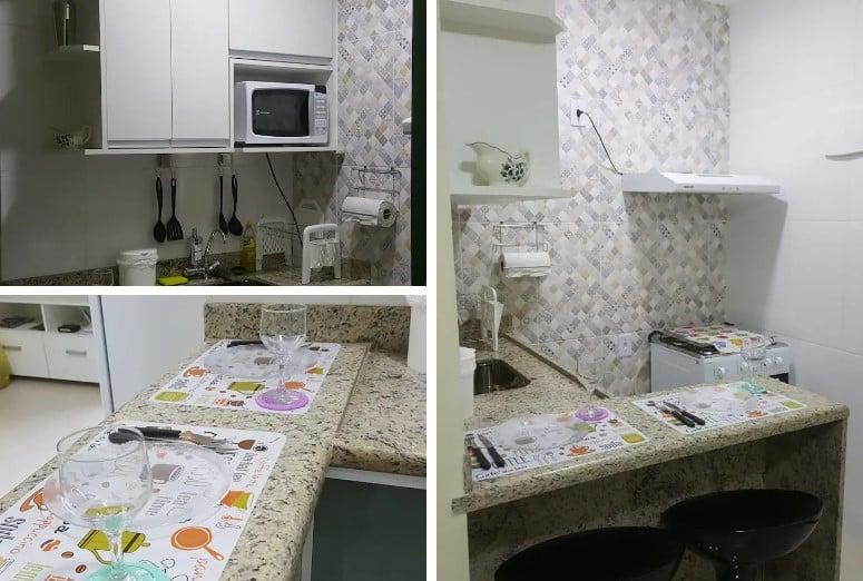 cozinha do airbnb Quitenete Completa, Econômica e Belíssima em Angra dos Reis