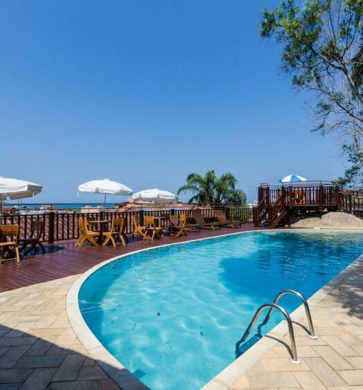 Vista do mar no Hotel Coquille, um dos hotéis em Ubatuba