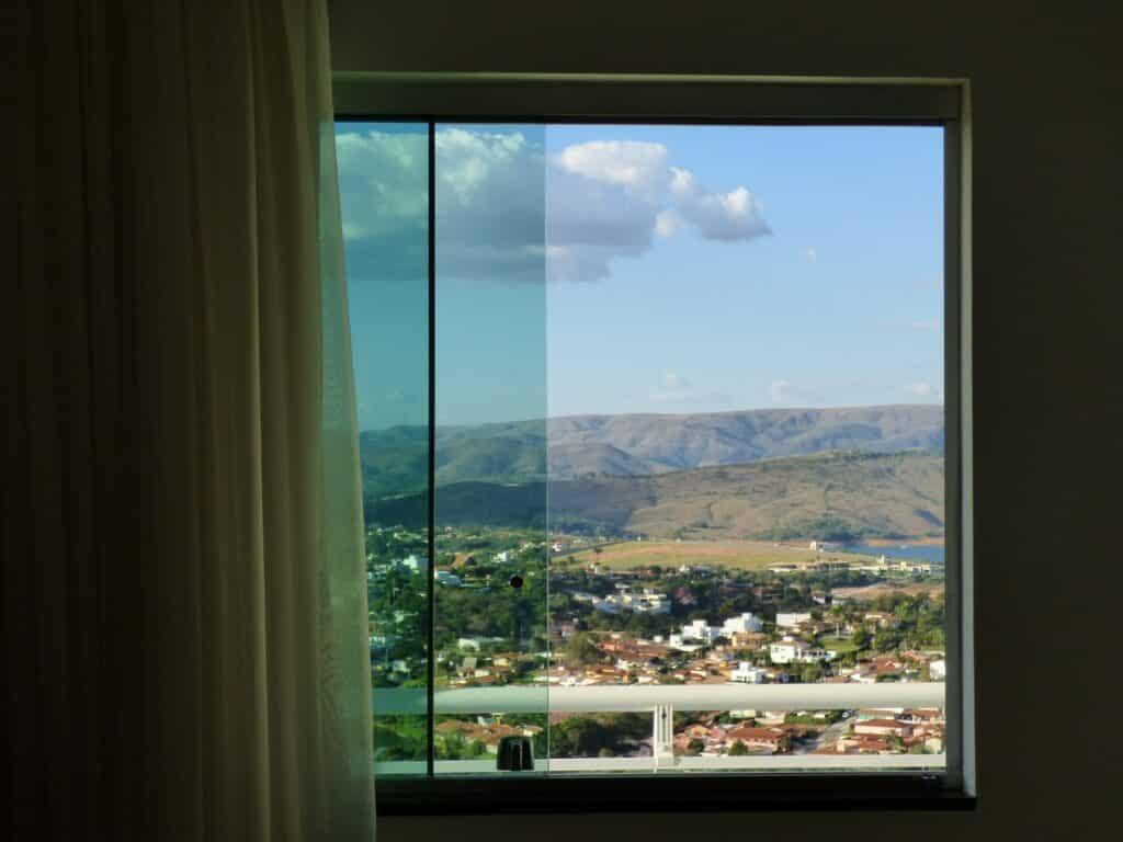 vista da janela do apartamento duplex