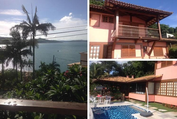 lindo airbnb Casa com Vista Maravilhosa em escarpas do lago