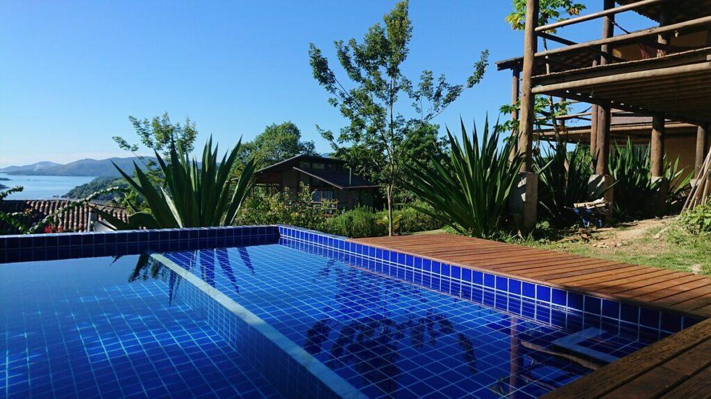 piscina na Casa de Campo Boa Esperança em Paraty