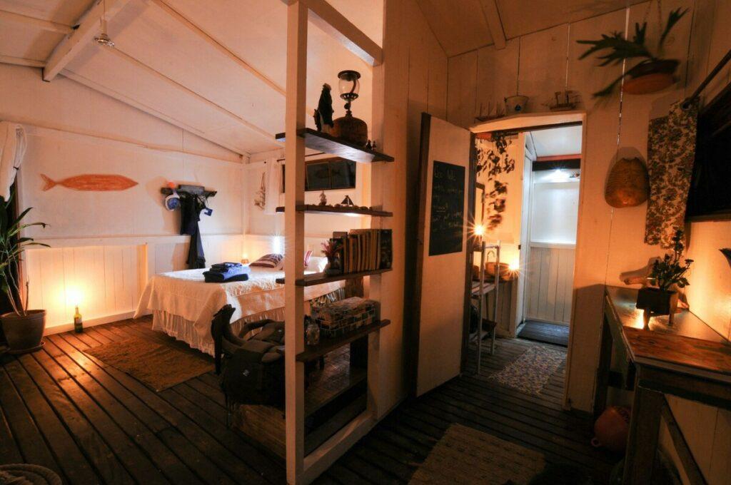 quarto do Eco Boat House em Ilha Grande