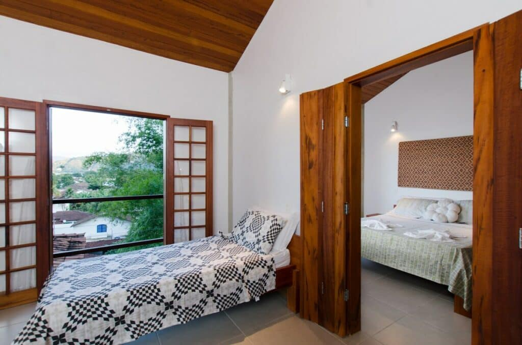 quarto do airbnb Linda Vista do Mar em Paraty