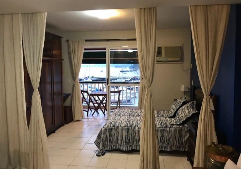 quarto do Loft com Vista da Baía