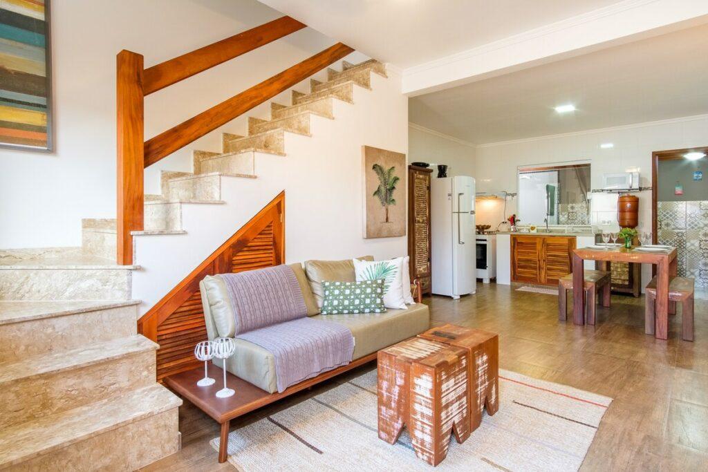 sala do airbnb Airbnb Recanto do Jabaquara em Paraty