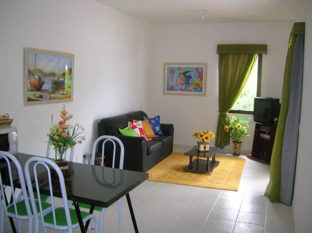 sala de estar do Apartamento com Linda Varanda