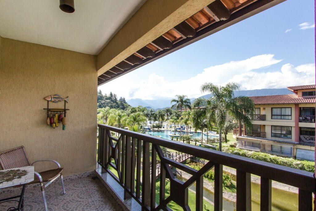 varanda do Flat Costabella Angra Resort