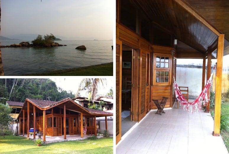 vista do airbnb Chalé Beira Mar em Angra dos Reis