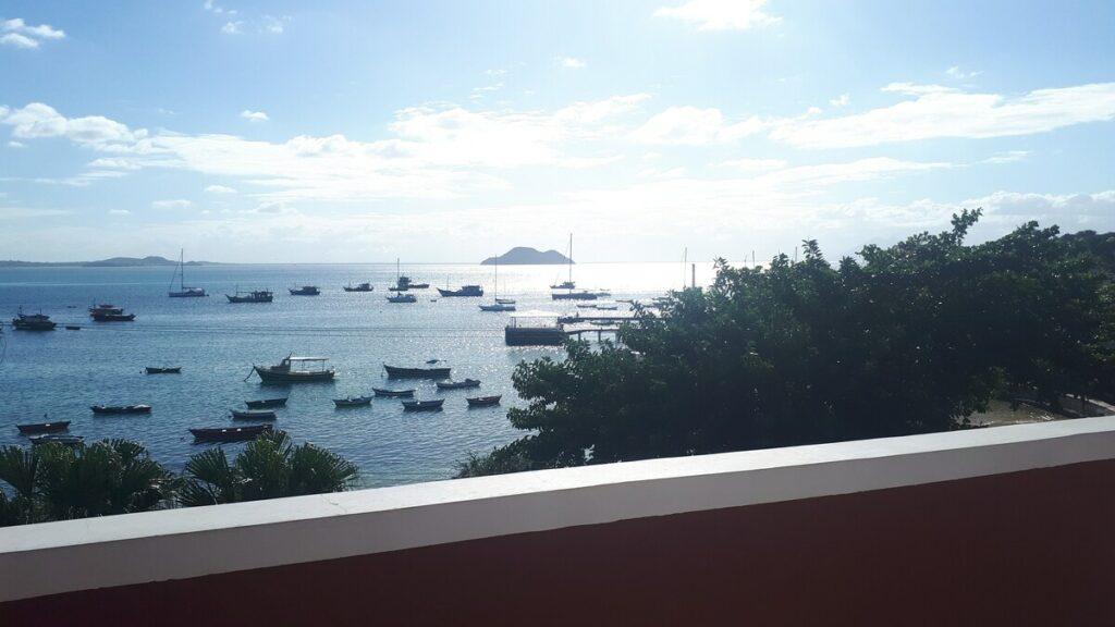 vista do airbnb apartamento sea view orla bardot em búzios